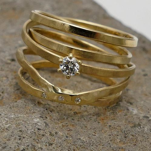 Wickelring Gold Brillant