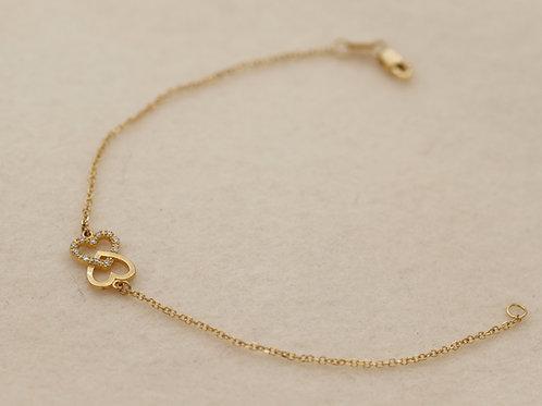 Armband Gold Herzen