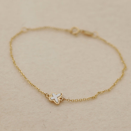Armband Gold Schmetterling
