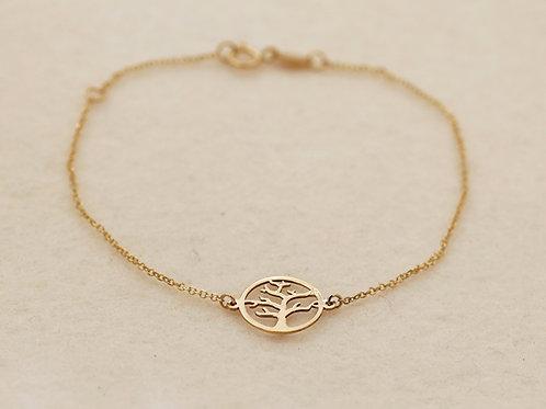 Armband Gold Lebensbaum