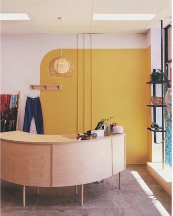 Desk | Hoop pine ply SWOP ClothIng Exchange 2018 - Design @fivemileradius Client @_swop