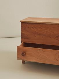 Blanket Box | Australian Red Cedar Single board blanket box with drawer  Made at the Sturt School For Wood 2020 - Image @danielmulheran