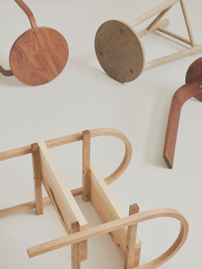 Steps and stools | Various species Made at the Sturt School For Wood 2020 - Image @danielmulheran