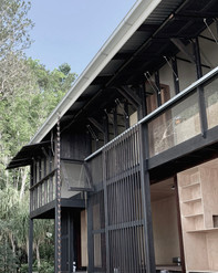 Carpentry | Charred hardwood  Sliding exterior screens 2018 - - Architecture @stuart_vokesandpeters