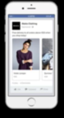 Facebook ads in iphone