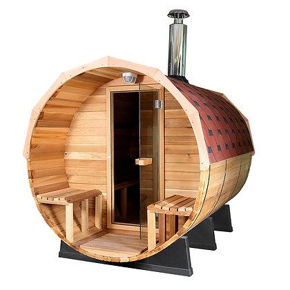 Sauna Fun-FWK2 ⦰1800  Longueur 1m80 4 personnes avec Fourneau à bois