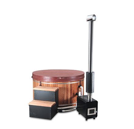 Bain Jacuzzi Fun-EB2 avec fourneau à bois externe et pompe de cirulation