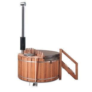 Spa Bain Jacuzzi Fun-EB avec fourneau à bois interne