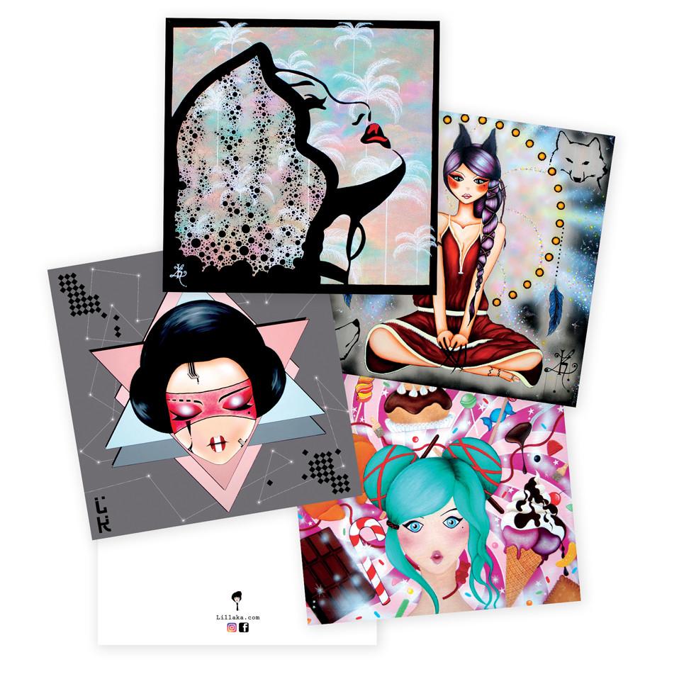 Les cartes postales carrées 12x12 cm