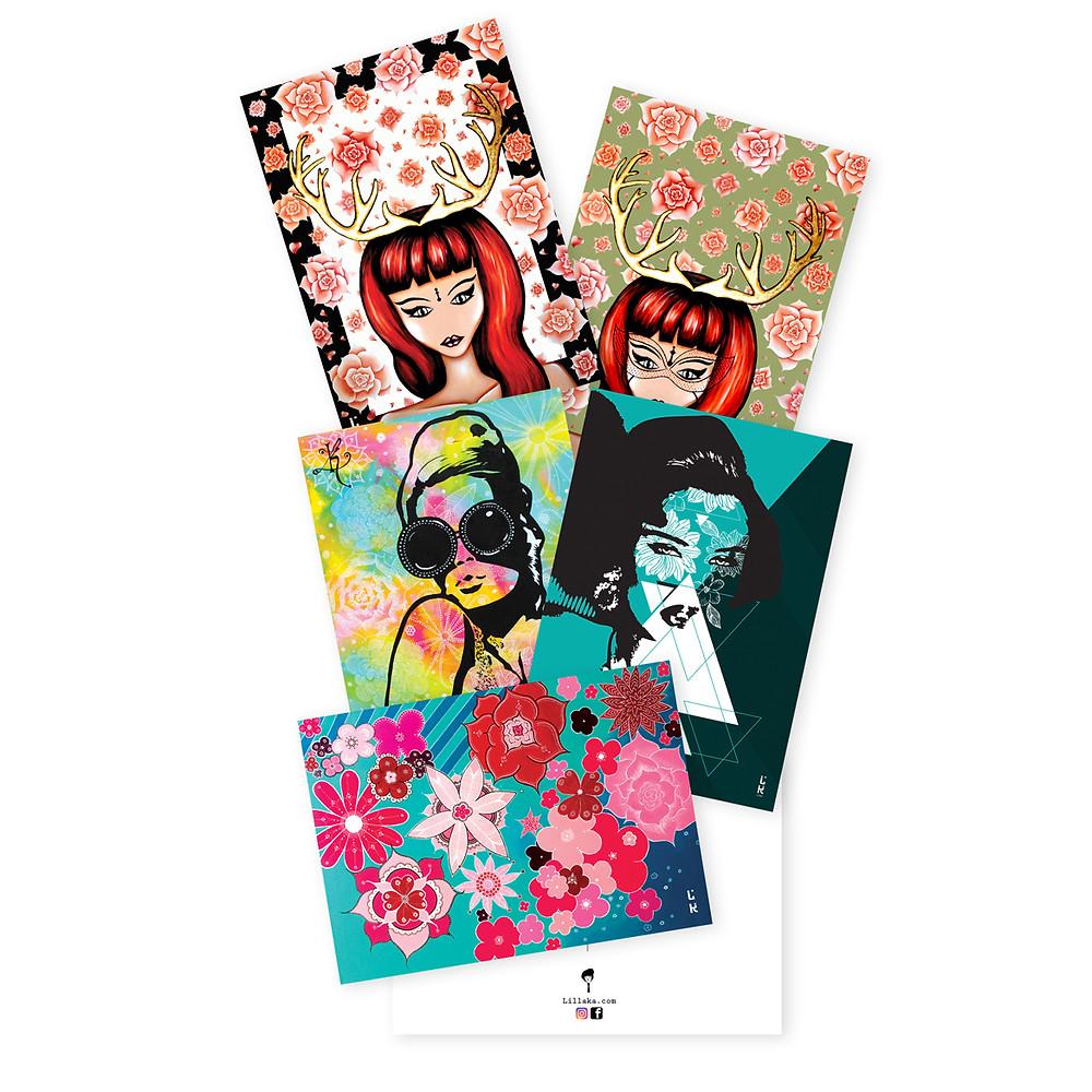 Les cartes postales 10x15 cm