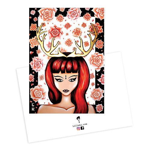 Carte postale Gold & roses 2
