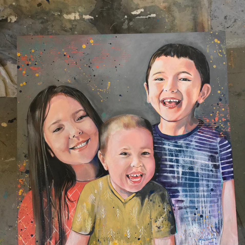 "édric & Nolan Acrylic on canvas 36"" x 36"" SOLD"