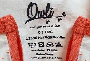 owli sleeping bag itchy stamp tags