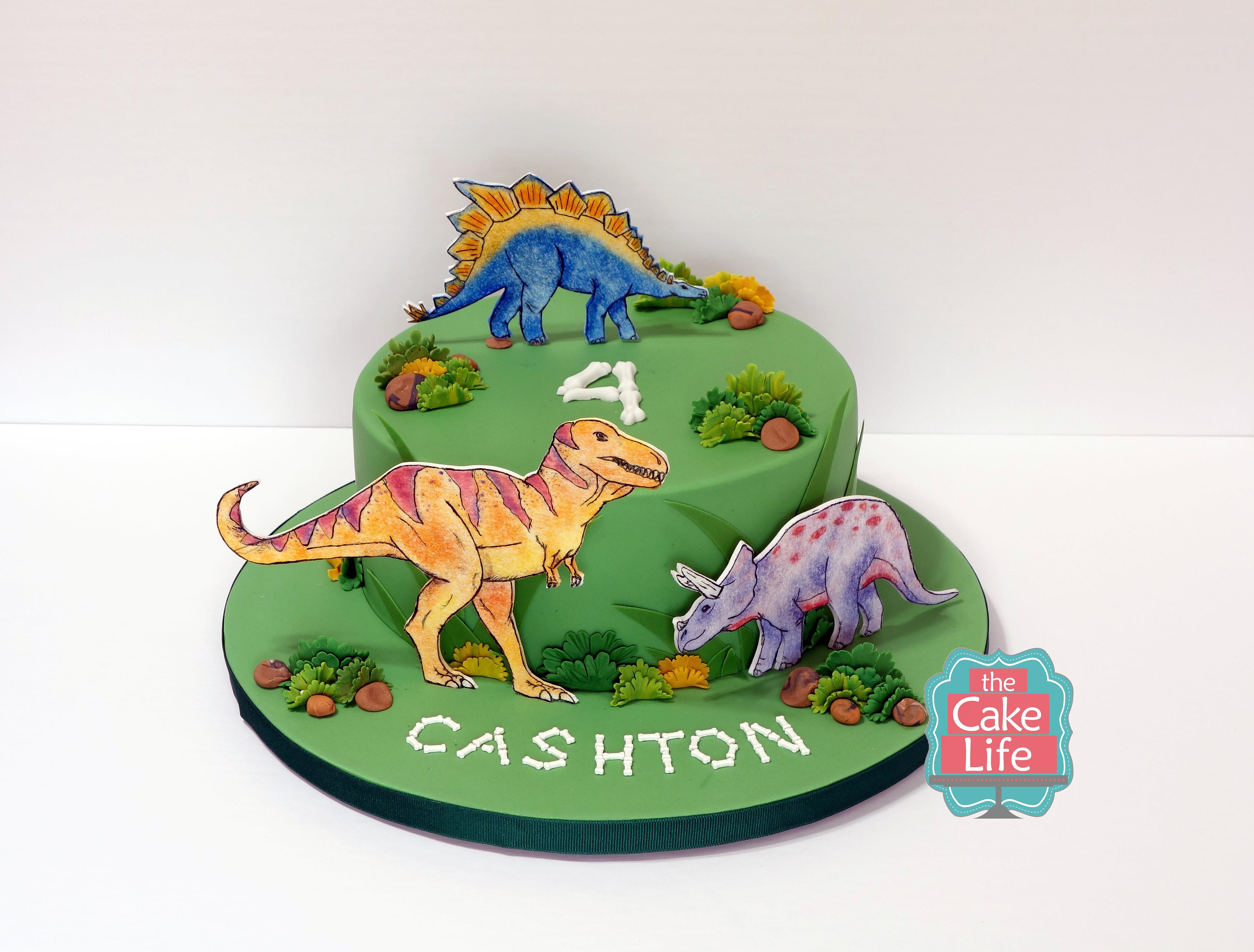Dinosaur Wedding Cake Topper