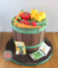 garden vegetable basket cake.JPG