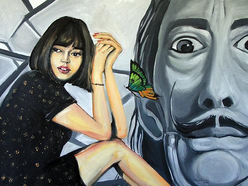 salvador dali and the girl