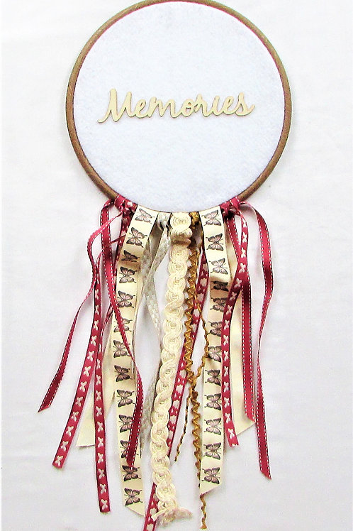 pink and brown dream catcher