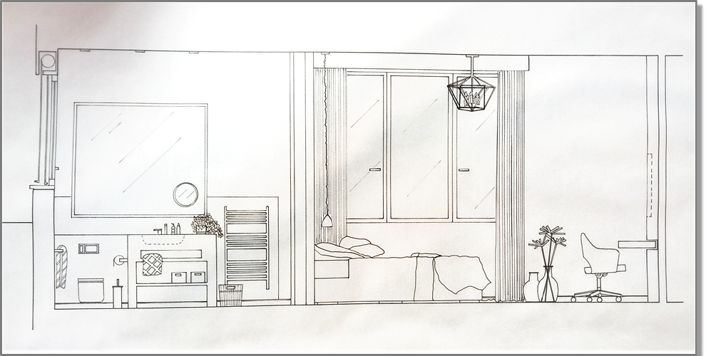 Master Bedroom Bathroom detail drawings