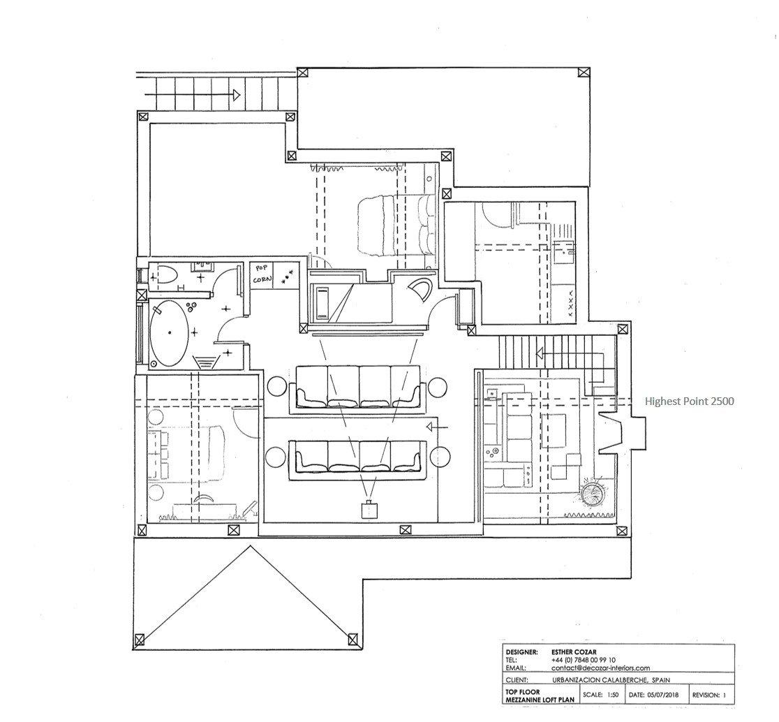 Cinema Room - Top Floor Mezzanine Loft Floorplan