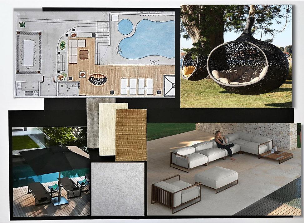 Garden-pool area sample board
