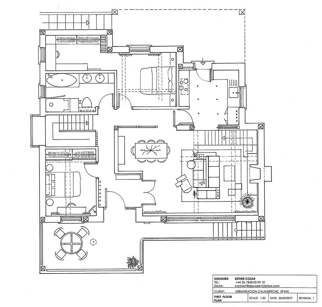 Villa - Upstairs Floorplan