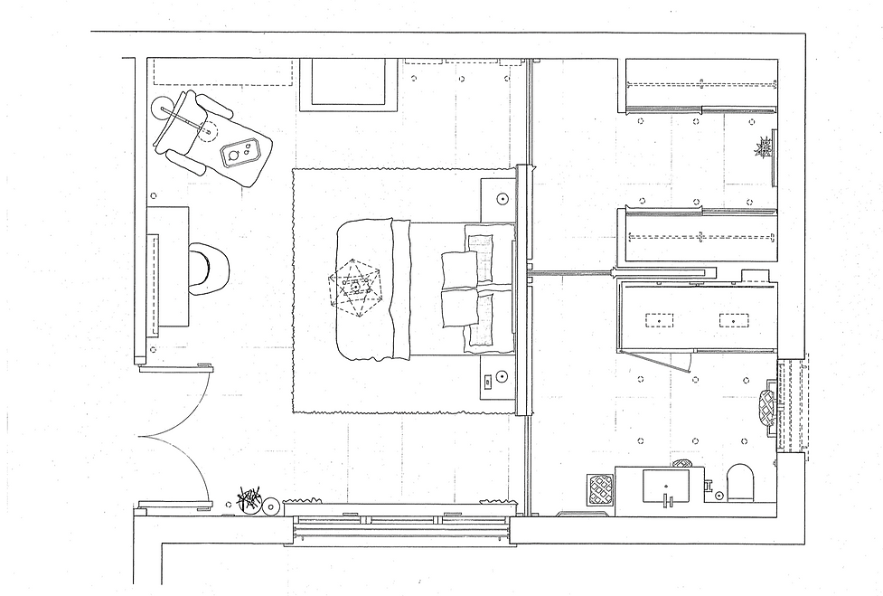 Master Bedroom detail drawing