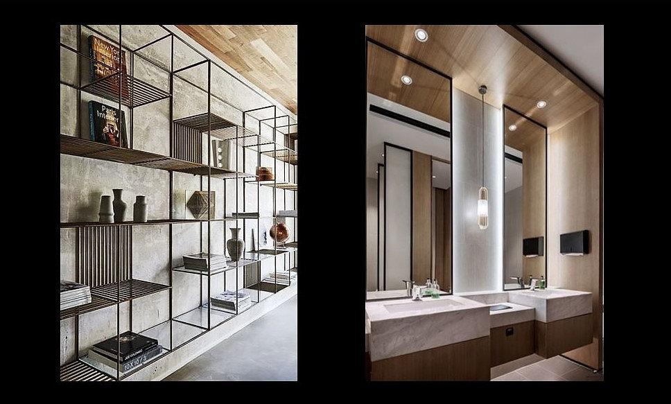Shelving unit - Bathroom view