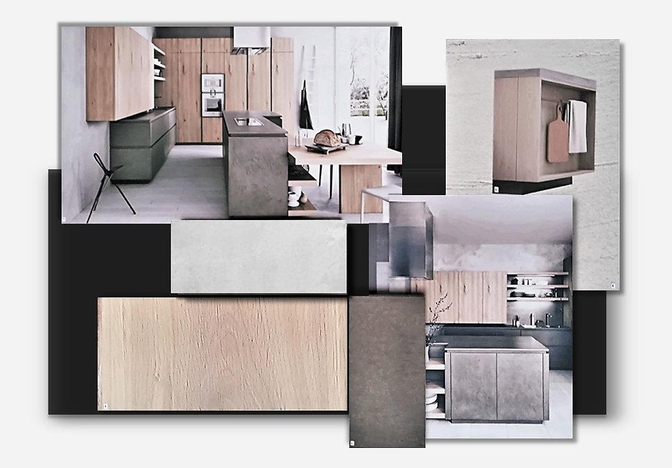 Kitchen sample board