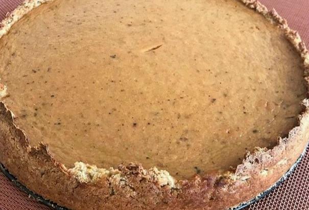 Pumpkin pie with oatmeal shortcrust (GF & dairy-free)