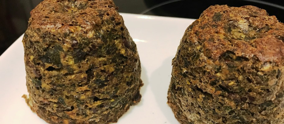 """Healthy """"On-the-Go"""" Kale & Spinach Muffins"""