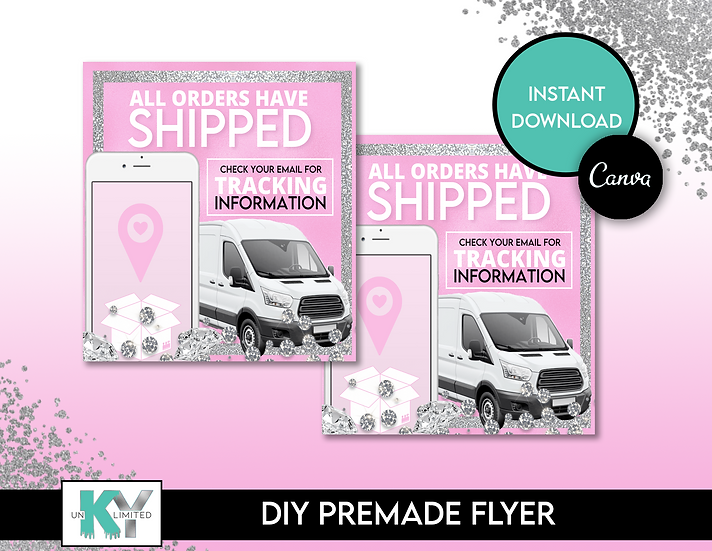 DIY Pink Shipped Premade Flyer