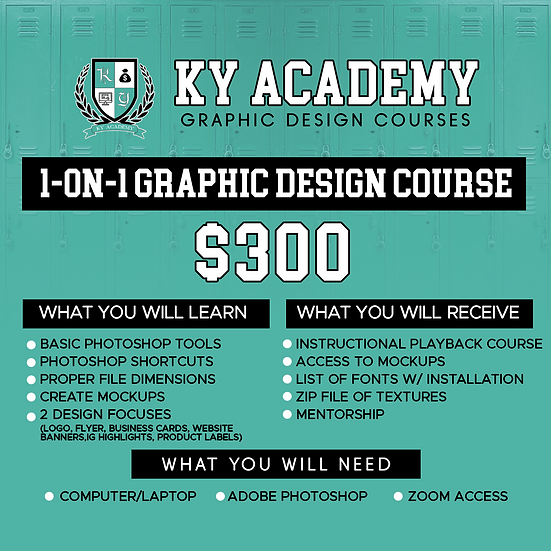 1-on-1 Graphic Design Course