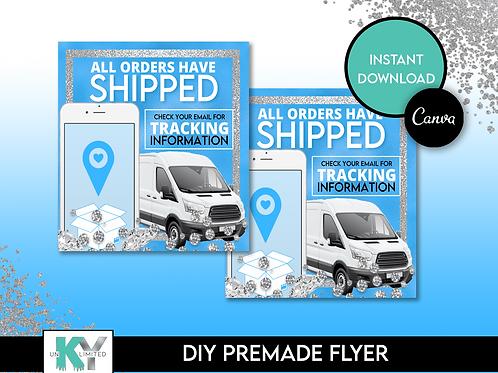 DIY Blue Shipped Premade Flyer