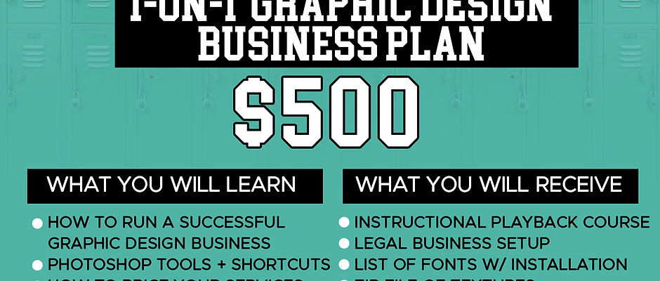 1-on-1 Graphic Design Business Plan Course