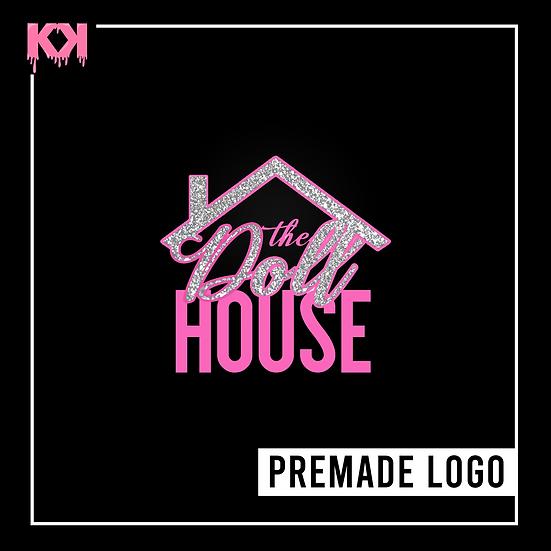 Premade Image Logo Design (Pink and Silver Glitter)