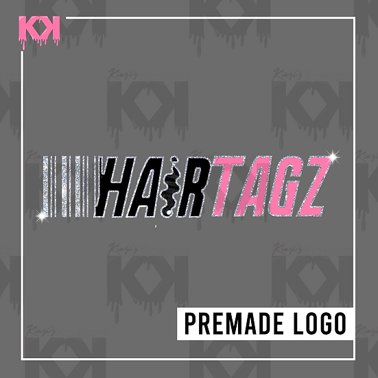 Premade Image Logo Design (Pink and Silver Hair)