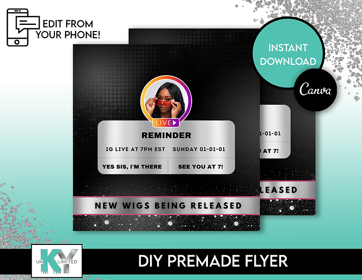 DIY IG Reminder Premade Flyer