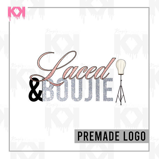 Premade Image Logo Design (Pink and Silver Wig)