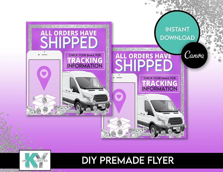 DIY Purple Shipped Premade Flyer