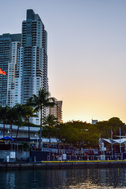 Sunset by boat in Miami