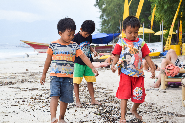 Young children playing, Gili Island