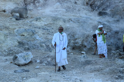 Hindu rituel in Merapi's mountain