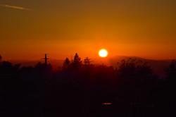Levé du soleil, Epalinges, 2015