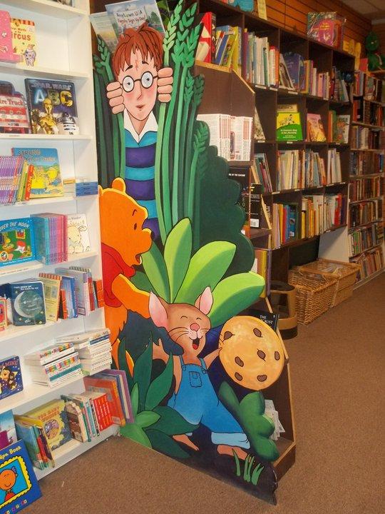 books - childrens painted shelf