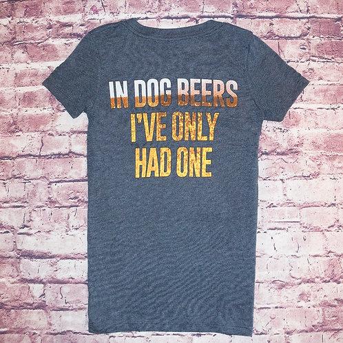 """In Dog Beers"" V-Neck T-Shirt"