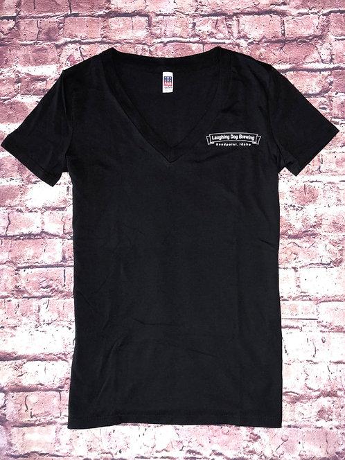 Banner Logo V-Neck T-Shirt