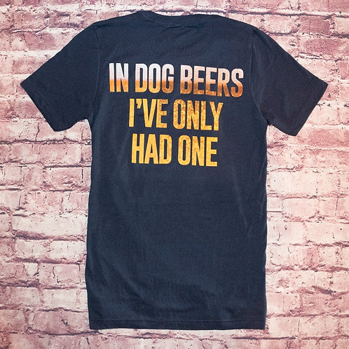 """In Dog Beers"" Crew Neck T-Shirt"