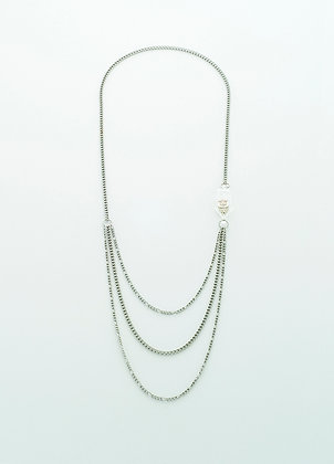 Unchain My Heart Necklace (silver owl)