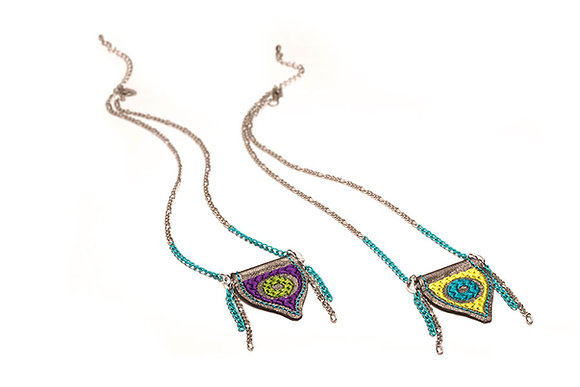 Evil Eye Reversible Mercurial necklaces