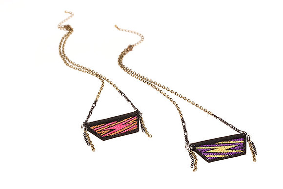 Bolt Embroidered Mercurial Necklaces